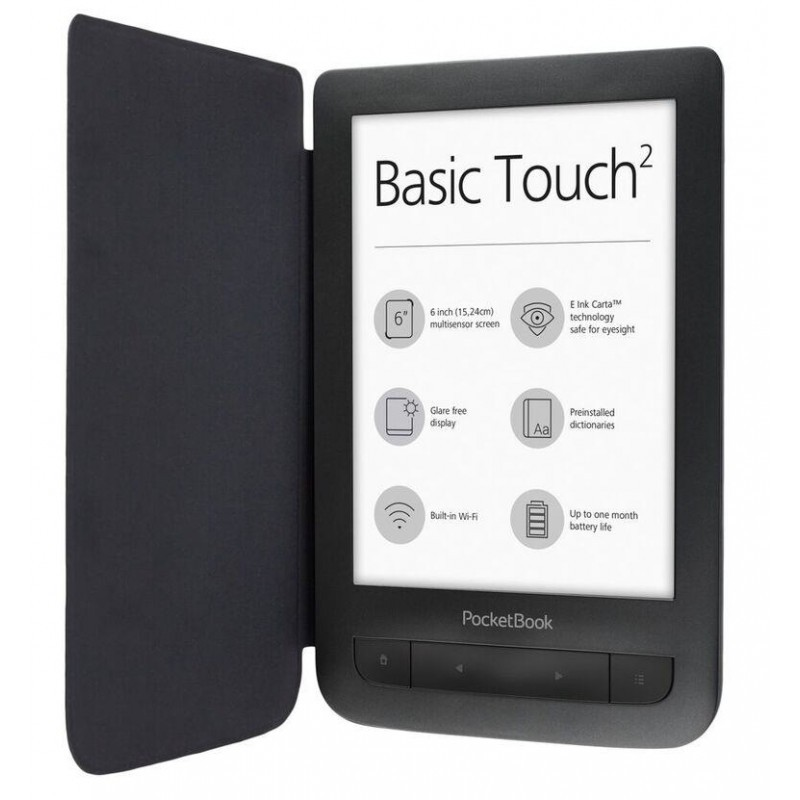 """E-Reader   POCKETBOOK   625 Basic Touch 2   6""""   800x600   Memory 8192 MB   1xMicro-USB   Micro SD  """