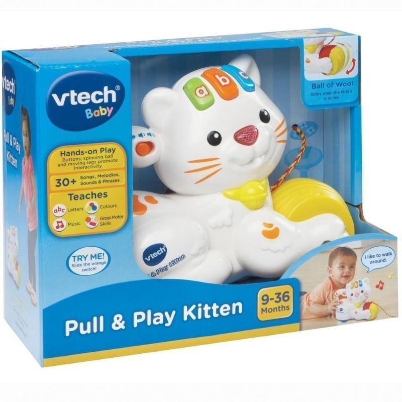 208d19fae9a VTECH arendav mänguasi Pull & Play kiisu, 80-158203 - Arendavad ...