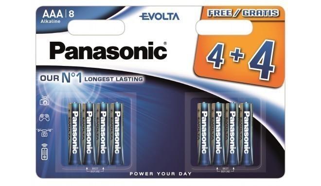 Panasonic Evolta baterija LR03EGE/8B (4+4 gb.)