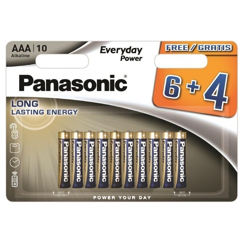 Panasonic Everyday Power baterija LR03EPS/10BW (6+4)