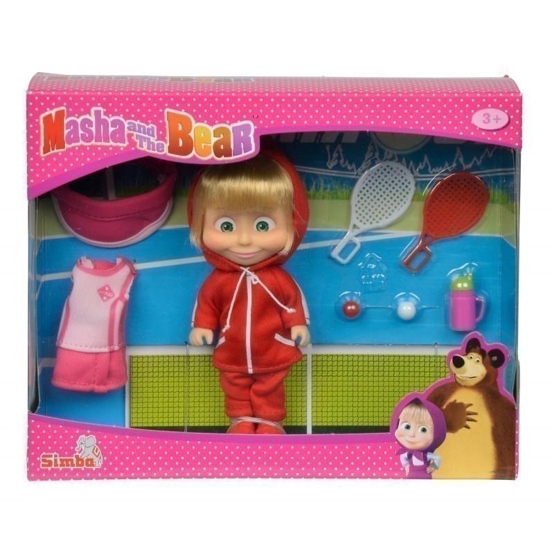 4dee30ca945 SIMBA MASHA AND THE BEAR doll with tennis set, 109301015 - Dolls ...