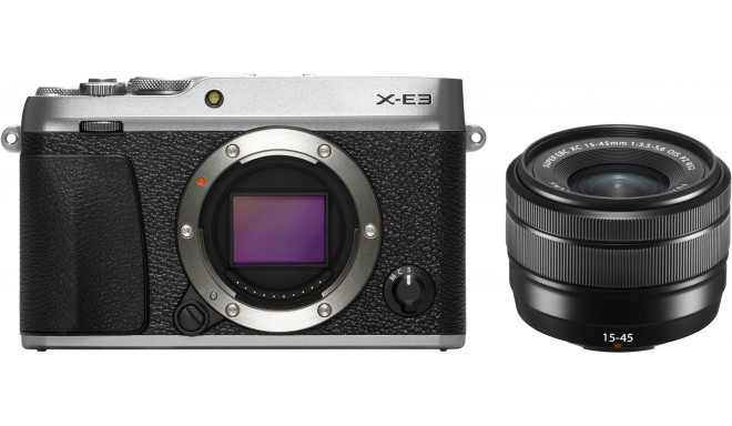 Fujifilm X-E3 + 15-45mm Kit, sudrabots