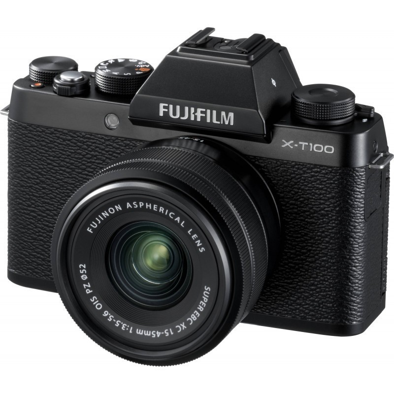 Fujifilm X-T100 + 15-45mm Kit, must