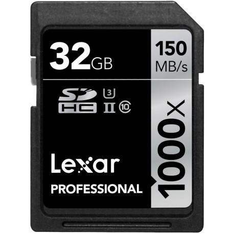Lexar mälukaart SDHC 32GB Professional 1000x 150MB/s