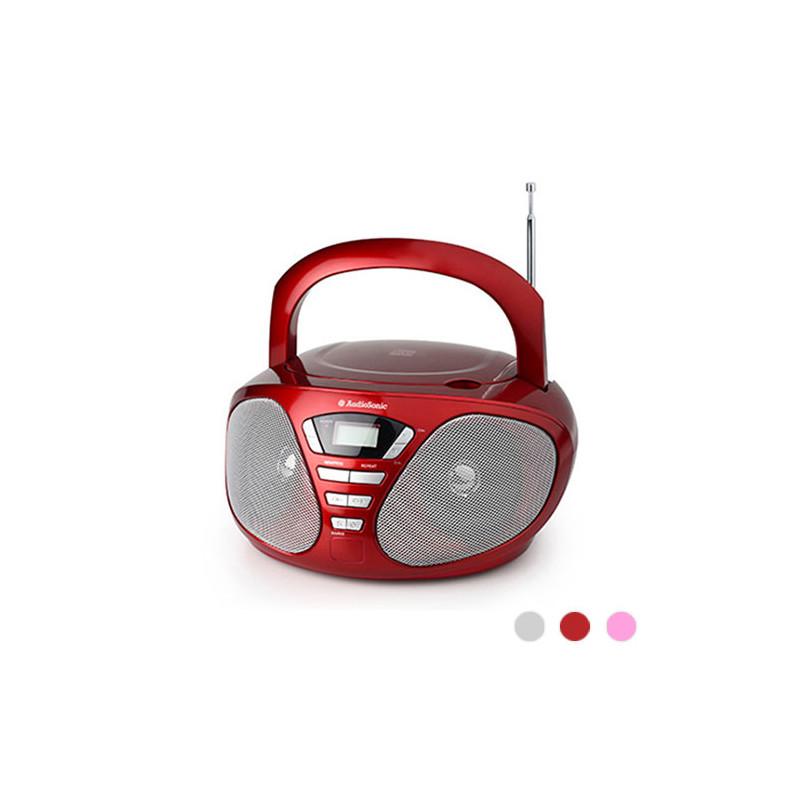 Радиоприёмник с CD Плеером AudioSonic (CD1567 Розовый)