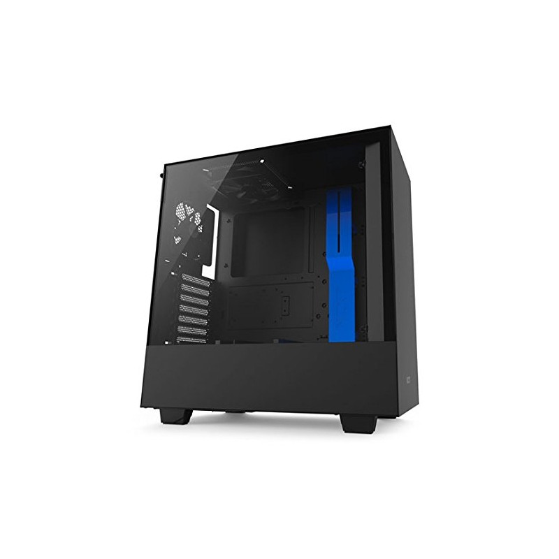 Nzxt Computer Case H500 Window Blackblue Cases Photopoint