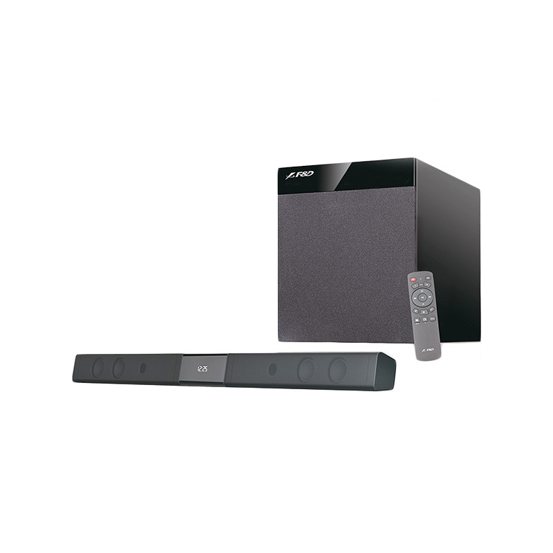 Bluetooth Sound Bar Audio System F&D T-360X 80W (RMS) 4x2.25'' full range drivers, 8'' driver for su