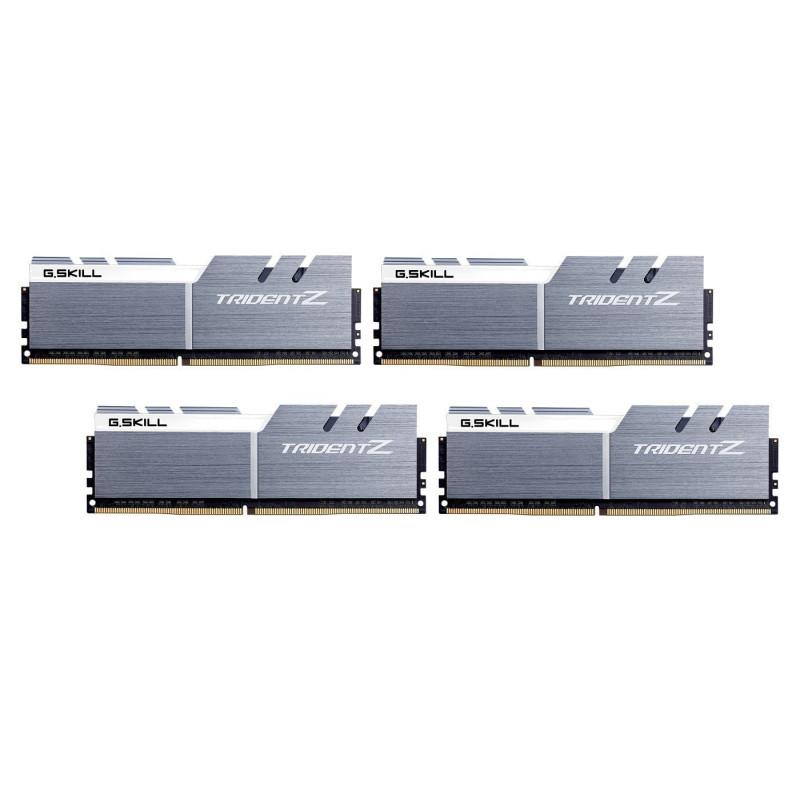 G Skill RAM Trident Z silver/white DIMM Kit 32GB DDR4-3200 CL14-14-14-34  (F4-3200C14Q-32GTZSW)
