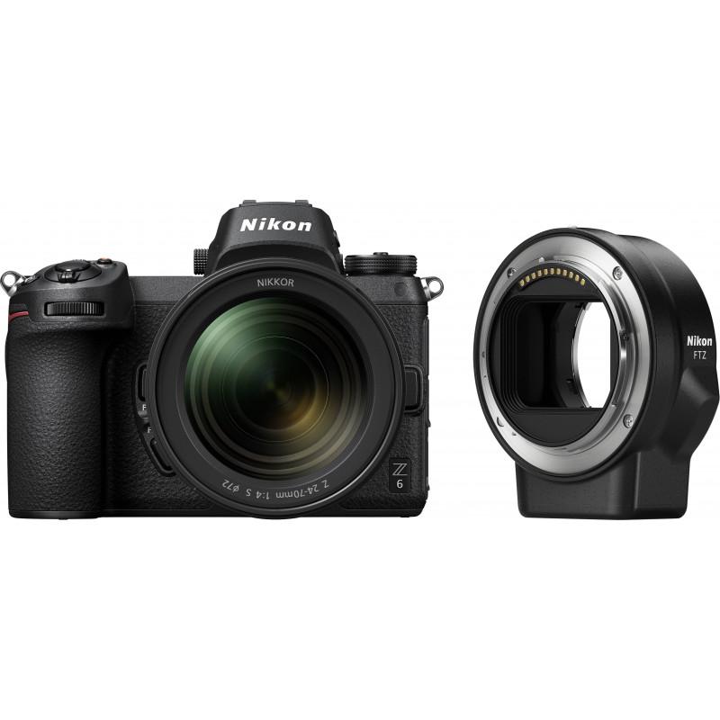 Nikon Z6 + 24-70mm f/4 S + objektiivi adaper FTZ Kit