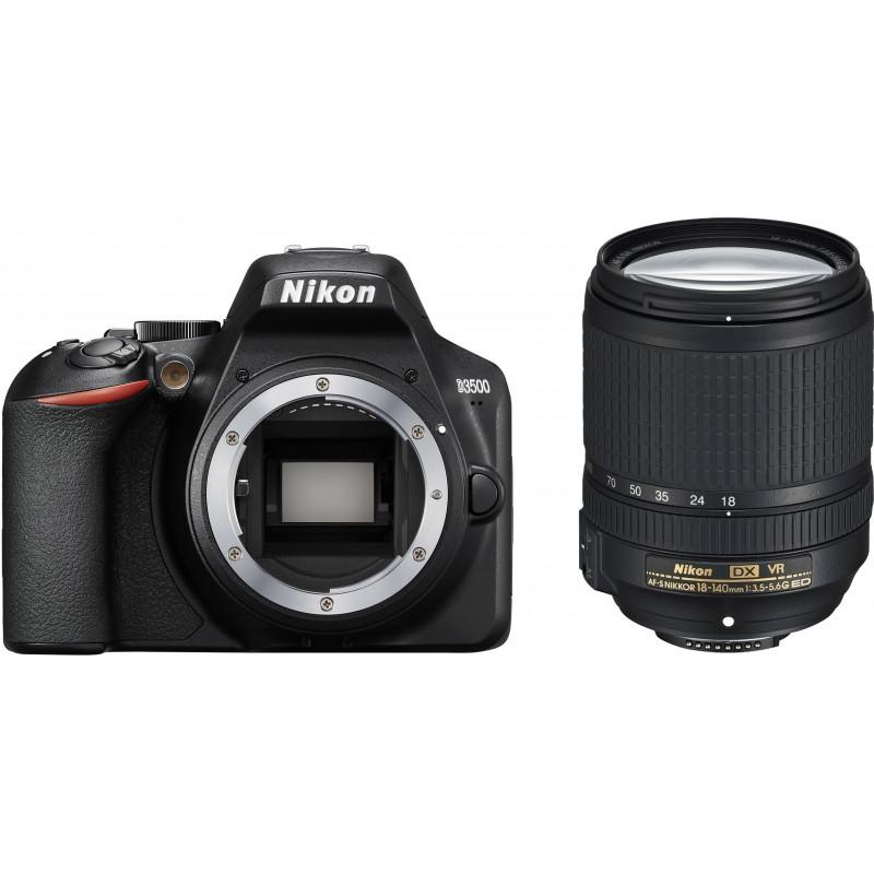 Nikon D3500 + 18-140 мм AF-S VR Kit, черный