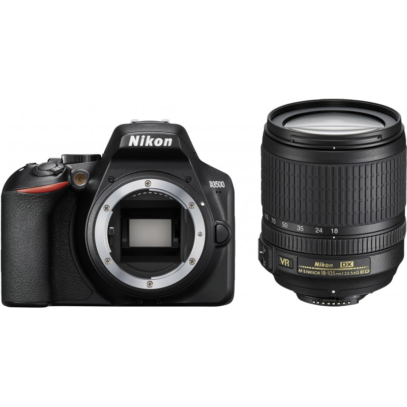 Nikon D3500 + 18-105mm AF-S VR Kit, must
