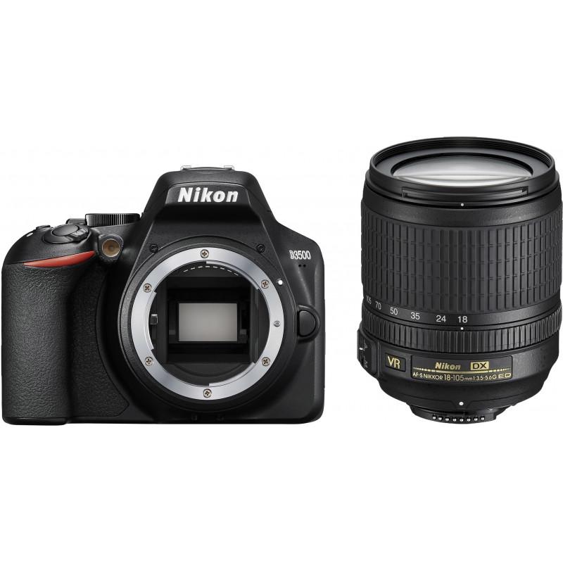 Nikon D3500 + 18-105 мм AF-S VR Kit, черный