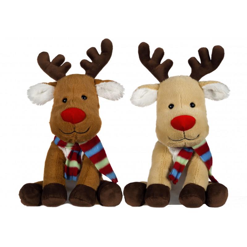 reindeers christmas plush toy 26 cm random style - Christmas Plush Toys