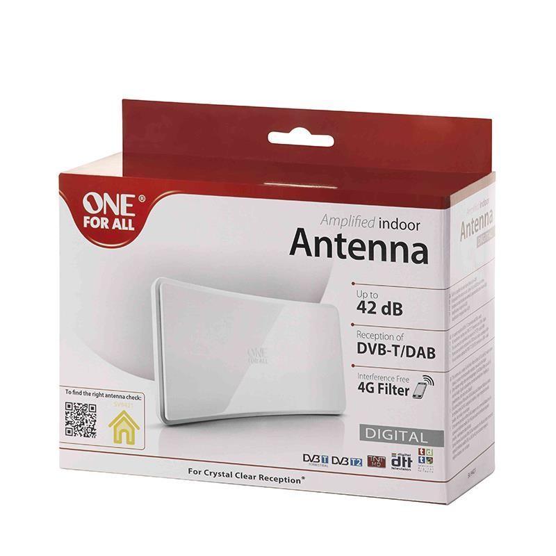 Ofa amplified indoor antenna 42 db white antennid for Spülmaschine 42 db