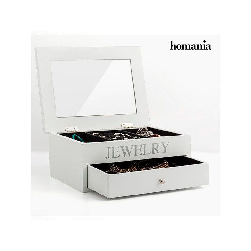 Wooden Jewellery Box With Mirror And Drawer Jewelry Boxes