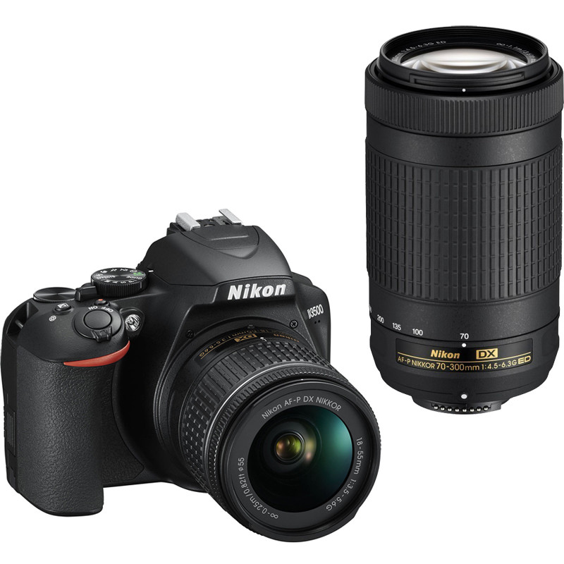 Nikon D3500 + 18-55mm AF-P + 70-300mm Kit, must