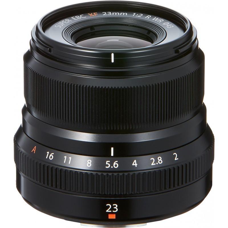 Fujinon XF 23mm f/2.0 R WR objektiiv, must