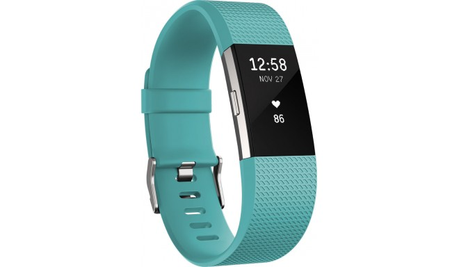 Fitbit трекер активности Charge 2 S, бирюза/серебристый