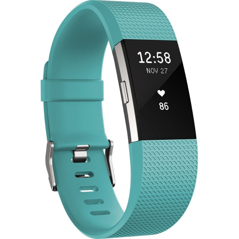 Fitbit activity tracker Charge 2 S, teal/silver