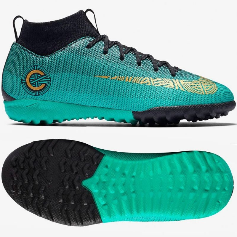 newest 394a8 8461e Kids football shoes Nike Mercurial Superfly 6 Academy GS CR7 TF Jr  AJ3112-390