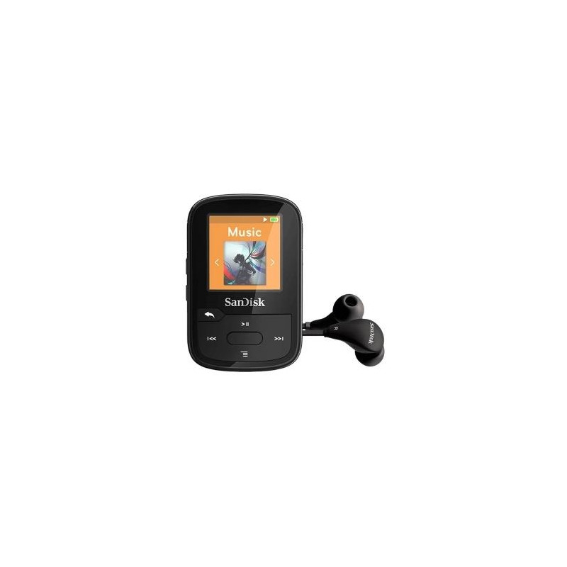 SanDisk MP3 player Clip Sport Plus, black (SDMX28-016G-G46K)