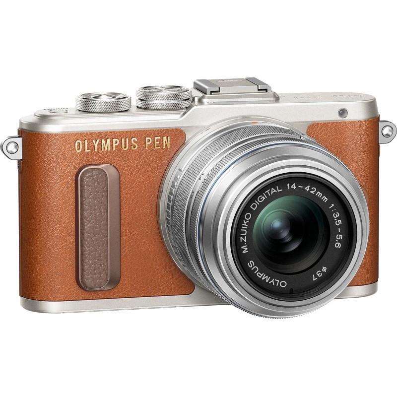 Olympus PEN Lite E-PL8 + 14-42 EZ Kit, pruun/hõbe