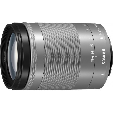 Canon EF-M 18-150mm f/3.5-6.3 IS STM lens, silver