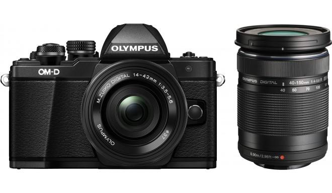 Olympus OM-D E-M10 Mark II + 14-4мм + 40-150мм Kit, черный