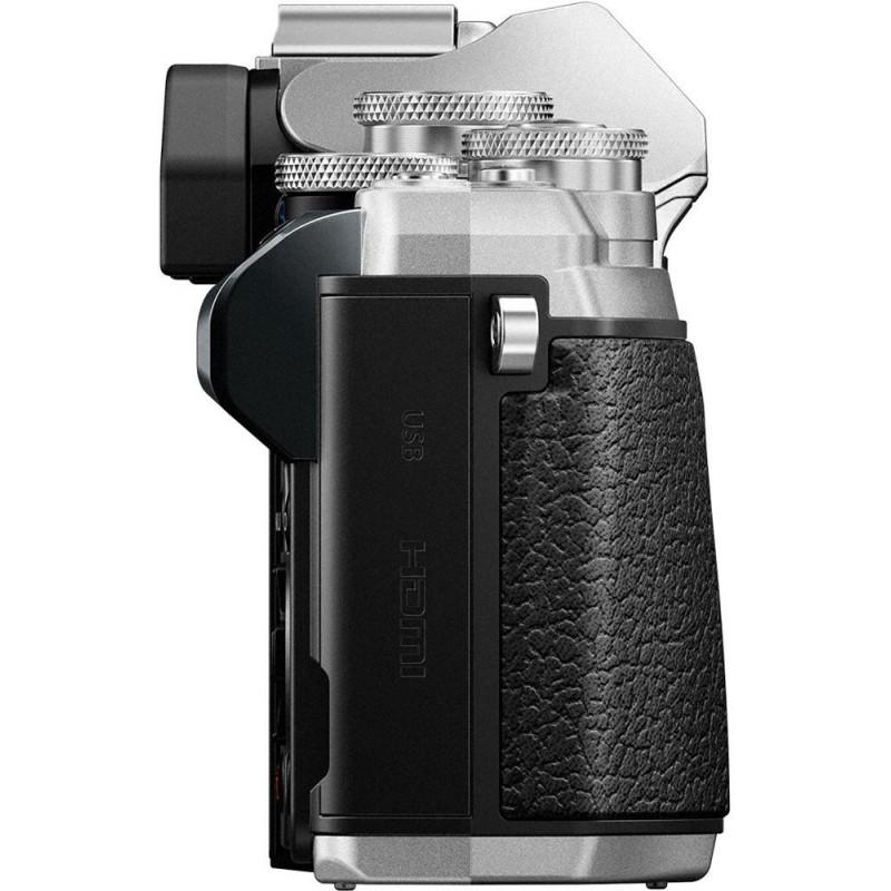 Olympus OM-D E-M10 Mark III + 14-42mm II + 40-150mm Kit, hõbedane