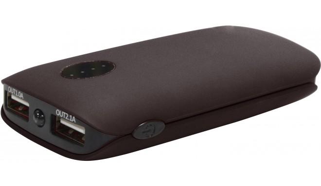 Platinet внешний аккумулятор 5000mah 2xUSB, черный (42409)