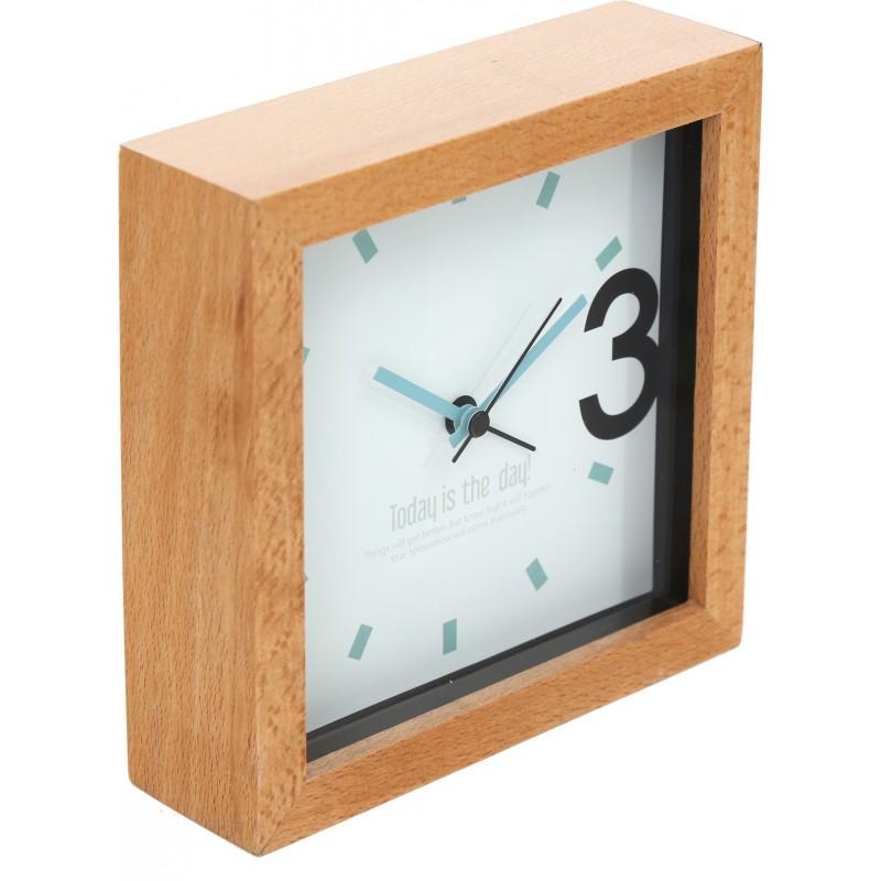 Platinet alarm clock April, wooden (43623)