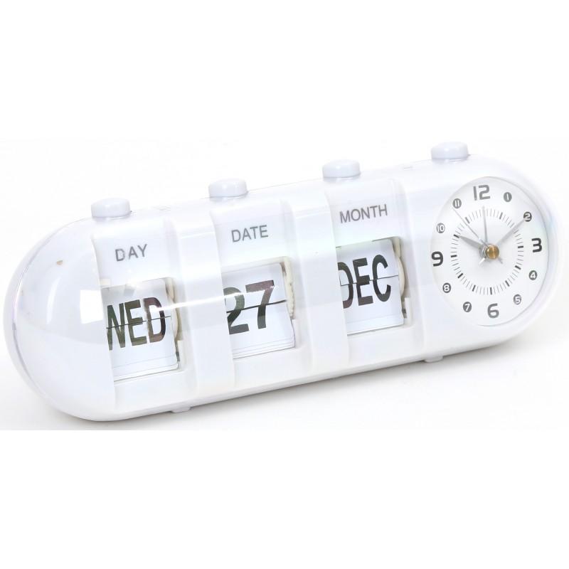 Platinet alarm clock January, white (43627)