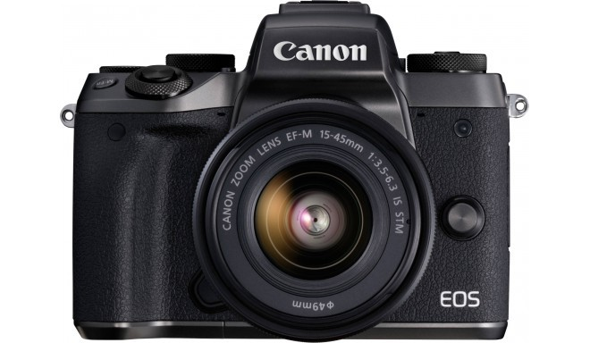 Canon EOS M5 + 15-45 IS STM, черный