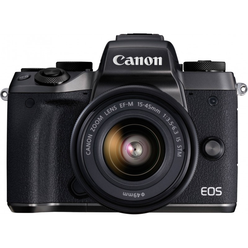 Canon EOS M5 + 15-45 IS STM, черный