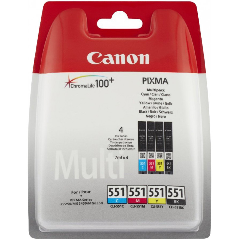 Canon ink cartridge CLI-551 Multipack, color/black