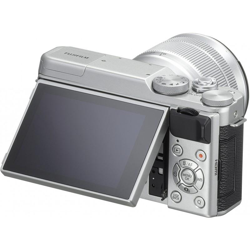 Fujifilm X-A10 + 16-50mm Kit, hõbedane