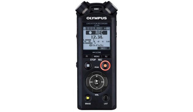 Olympus digital recorder LS-P4 Linear PCM, black