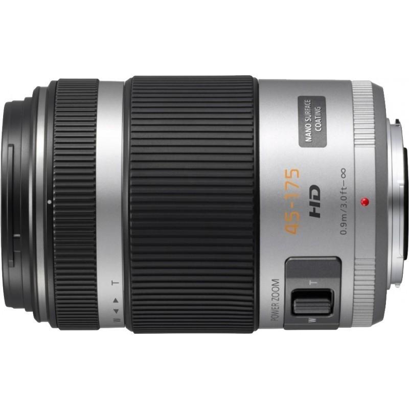 Panasonic Lumix G X Vario PZ 45-175mm f/4.0-5.6 ASPH. Power O.I.S. objektiiv, hõbedane