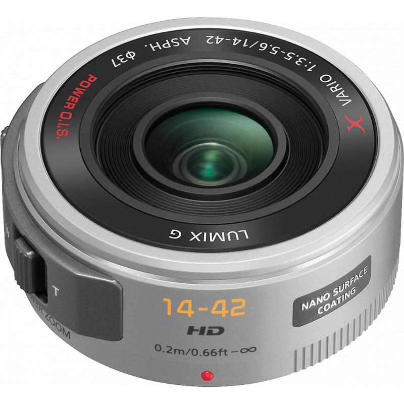 Panasonic Lumix G X Vario PZ 14-42mm f/3.5-5.6 ASPH. Power O.I.S. objektiiv, hõbedane