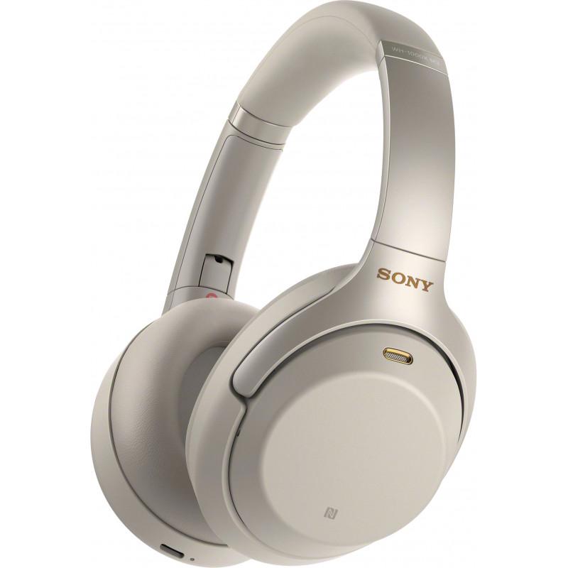 Sony juhtmevabad kõrvaklapid + mikrofon WH1000XM3, hõbedane