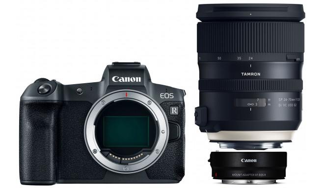 Canon EOS R + adapter EF-EOS-R + Tamron 24-70mm G2