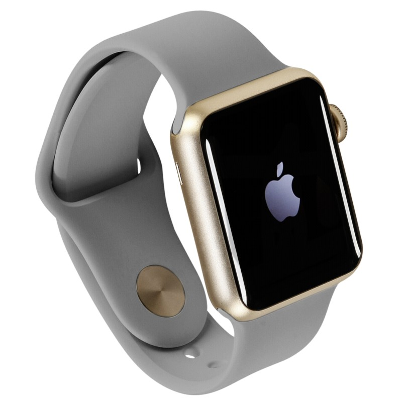 f8ede9fde Apple Watch 1 38mm Gold Alu Case with Concrete Sport Band ...