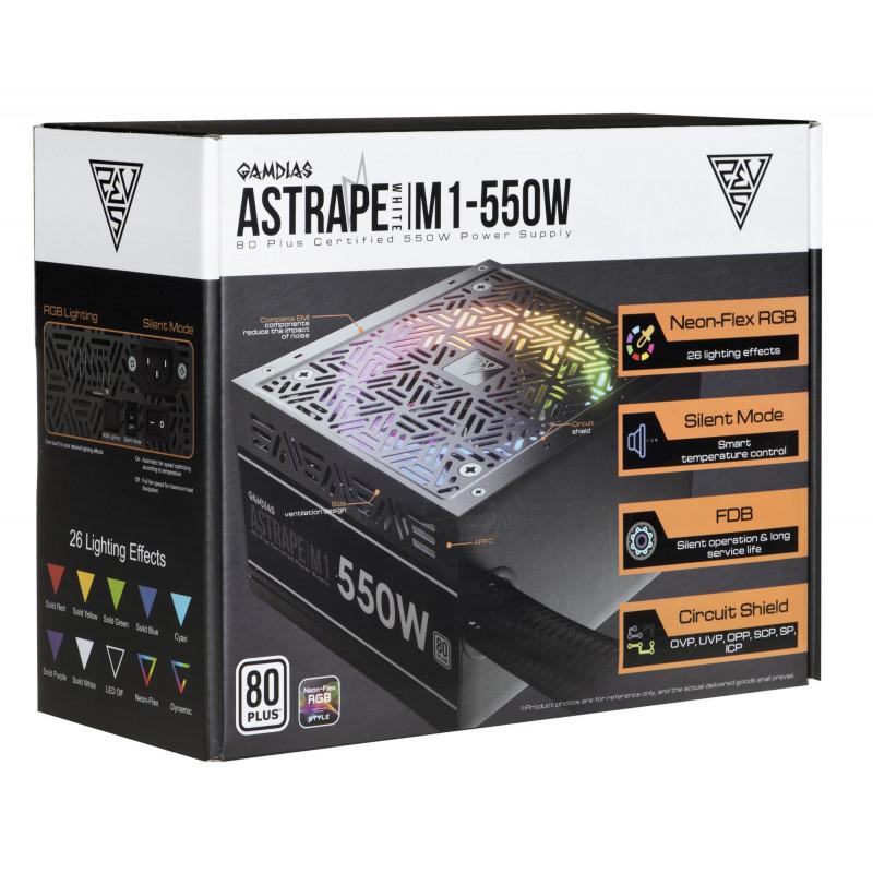 Gamdias PSU Astrape M1-550W 16200-00600-10000-G 550W 120mm - PSU ...