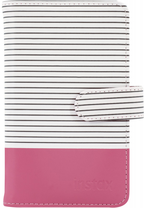 Fujifilm Instax album Striped 108, flamingo pink