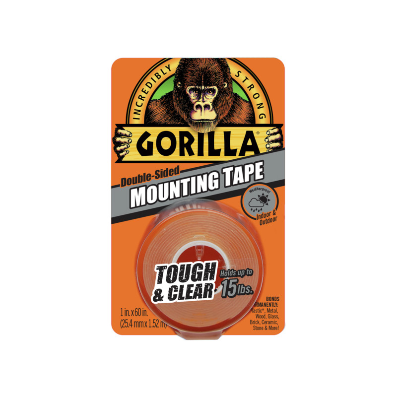 Gorilla tape Mounting Clear 1.5m