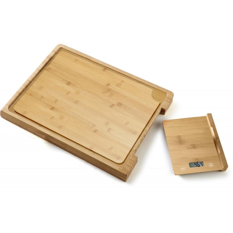 Platinet kitchen scale + cutting board PCBZB03