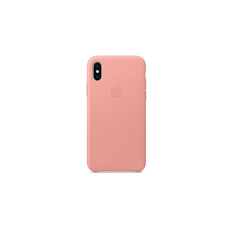 newest 6cafa 22edd Apple Leather Case iPhone X, soft pink