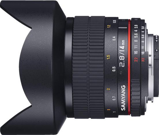 Samyang 14mm f/2.8 ED AS IF UMC objektiiv Canonile