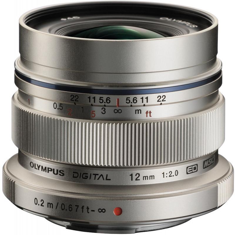 M.Zuiko Digital ED 12mm f/2.0 objektiiv, hõbedane