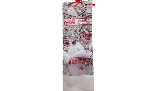 Dāvanu maisiņš pudelēm Ziemassvētki 13x36x8,5cm